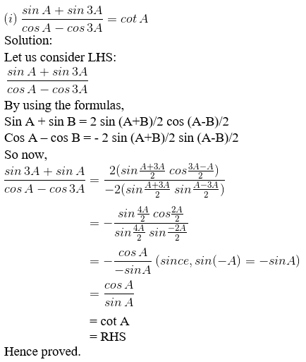 RD Sharma Solutions for Class 11 Maths Chapter 8 – Transformation Formulae image - 5