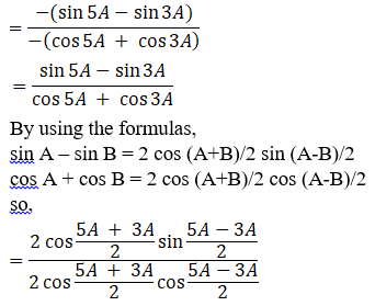 RD Sharma Solutions for Class 11 Maths Chapter 8 – Transformation Formulae image - 26
