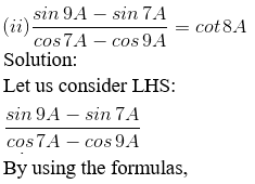 RD Sharma Solutions for Class 11 Maths Chapter 8 – Transformation Formulae image - 6