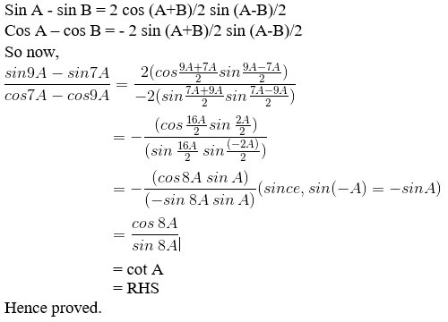 RD Sharma Solutions for Class 11 Maths Chapter 8 – Transformation Formulae image - 7
