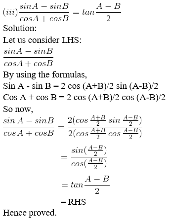RD Sharma Solutions for Class 11 Maths Chapter 8 – Transformation Formulae image - 8