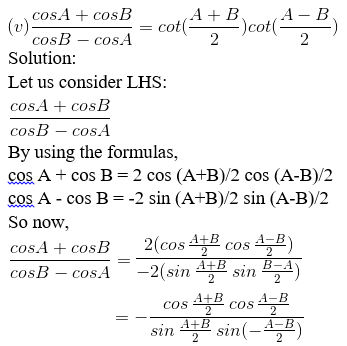 RD Sharma Solutions for Class 11 Maths Chapter 8 – Transformation Formulae image - 10