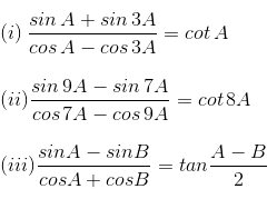 RD Sharma Solutions for Class 11 Maths Chapter 8 – Transformation Formulae image - 3