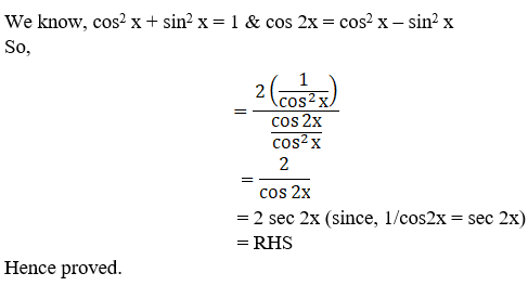 RD Sharma Solutions for Class 11 Maths Chapter 9 – Values of Trigonometric Functions at Multiples and Submultiples of an Angle image - 15