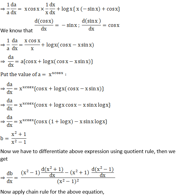 RD Sharma Solutions for Class 12 Maths Chapter 11 Diffrentiation Image 276