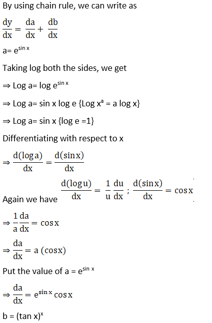 RD Sharma Solutions for Class 12 Maths Chapter 11 Diffrentiation Image 292