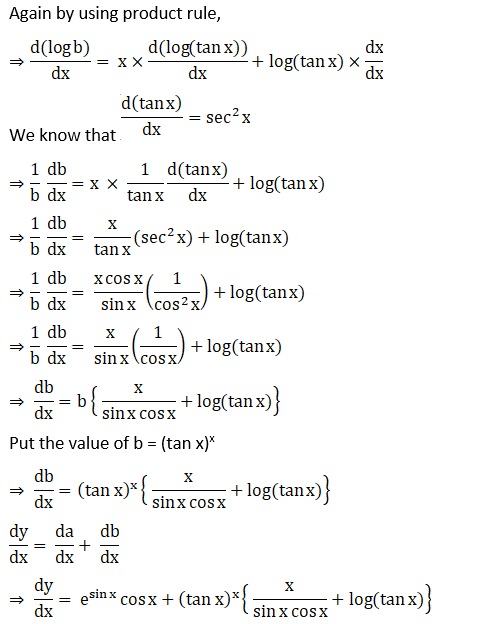RD Sharma Solutions for Class 12 Maths Chapter 11 Diffrentiation Image 294