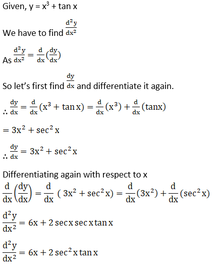 RD Sharma Solutions for Class 12 Maths Chapter 12 Higher Order Derivatives Image 1