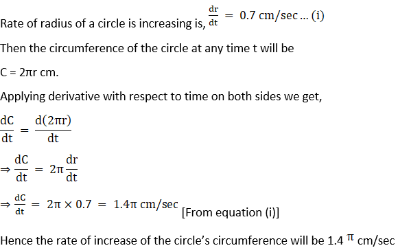 RD Sharma Solutions for Class 12 Maths Chapter 13 Derivative as a Rate Measurer Image 11