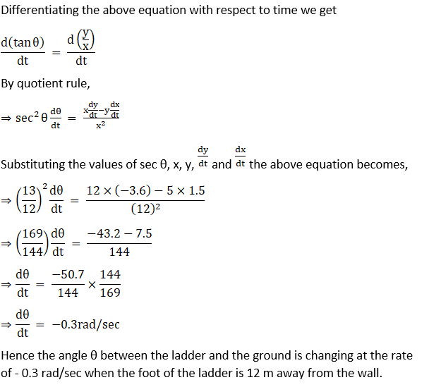 RD Sharma Solutions for Class 12 Maths Chapter 13 Derivative as a Rate Measurer Image 31