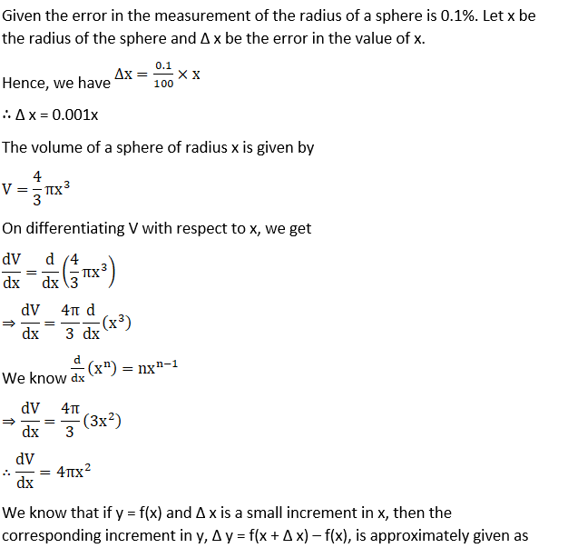 RD Sharma Solutions for Class 12 Maths Chapter 14 Differentials, Errors and Approximations Image 11