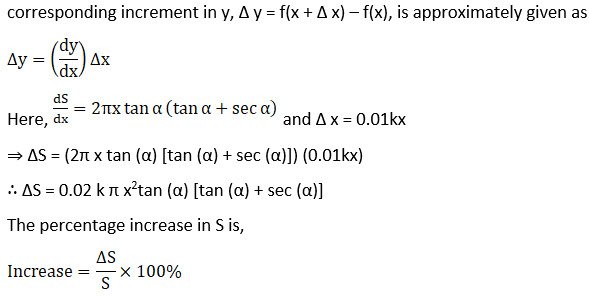 RD Sharma Solutions for Class 12 Maths Chapter 14 Differentials, Errors and Approximations Image 21