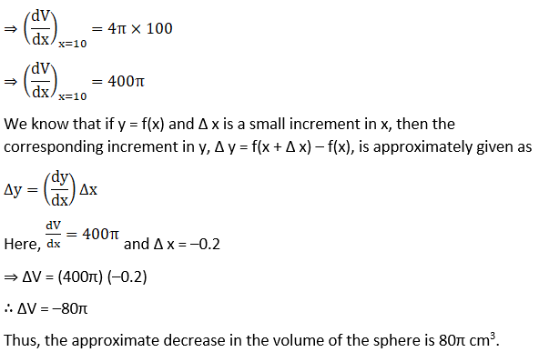 RD Sharma Solutions for Class 12 Maths Chapter 14 Differentials, Errors and Approximations Image 5
