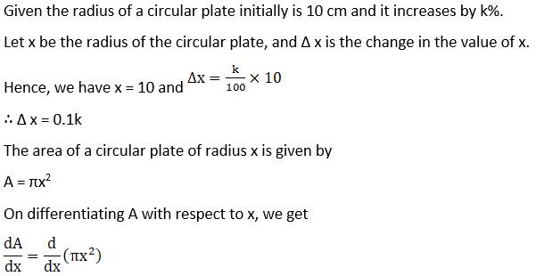 RD Sharma Solutions for Class 12 Maths Chapter 14 Differentials, Errors and Approximations Image 6