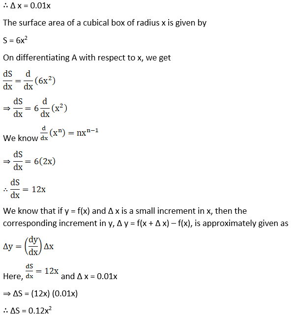 RD Sharma Solutions for Class 12 Maths Chapter 14 Differentials, Errors and Approximations Image 9