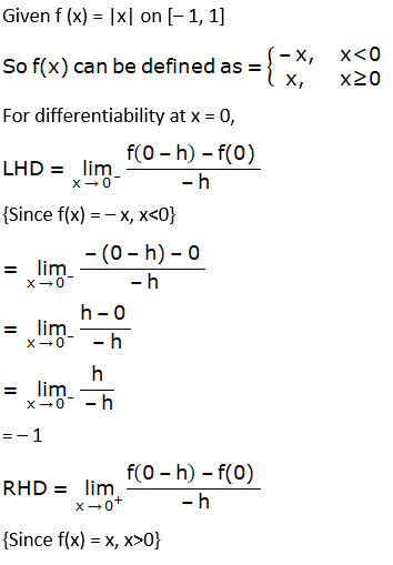 RD Sharma Solutions for Class 12 Maths Chapter 15 Mean Value Theorems Image 124