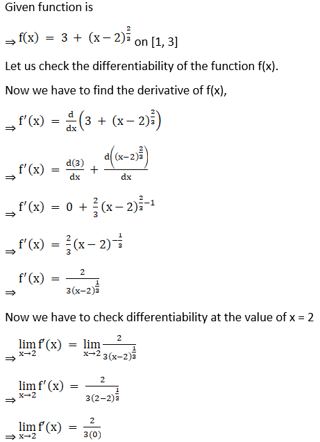 RD Sharma Solutions for Class 12 Maths Chapter 15 Mean Value Theorems Image 2