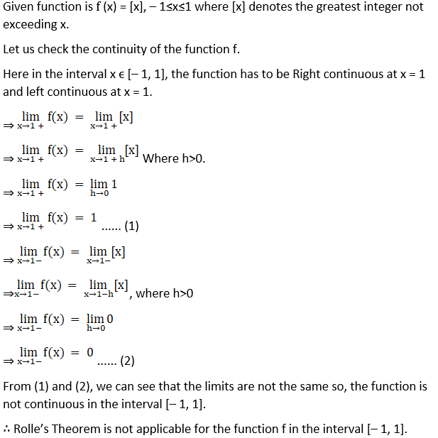 RD Sharma Solutions for Class 12 Maths Chapter 15 Mean Value Theorems Image 4