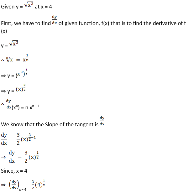 RD Sharma Solutions for Class 12 Maths Chapter 16 Tangents and Normals Image 2