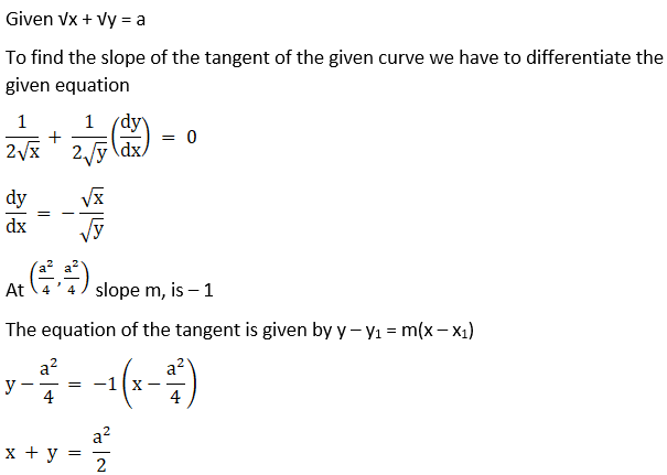 RD Sharma Solutions for Class 12 Maths Chapter 16 Tangents and Normals Image 47