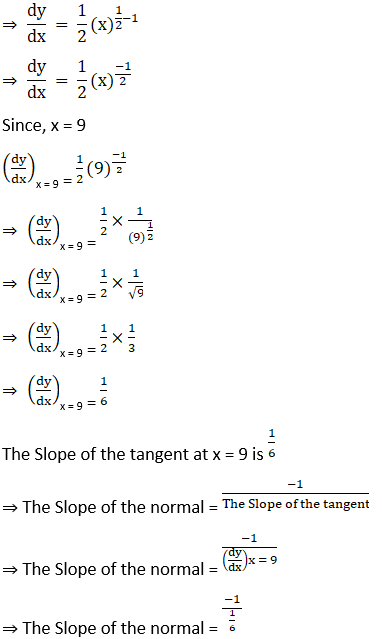 RD Sharma Solutions for Class 12 Maths Chapter 16 Tangents and Normals Image 6
