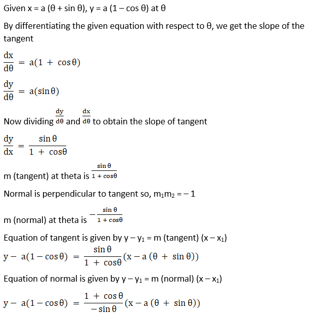 RD Sharma Solutions for Class 12 Maths Chapter 16 Tangents and Normals Image 67