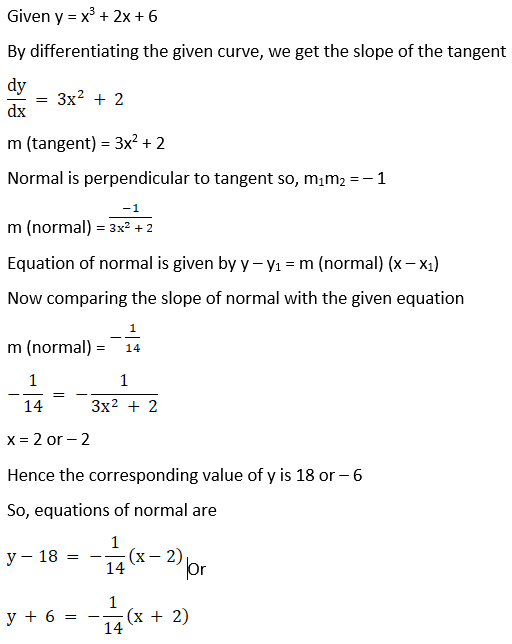 RD Sharma Solutions for Class 12 Maths Chapter 16 Tangents and Normals Image 76