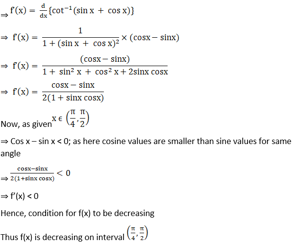 RD Sharma Solutions for Class 12 Maths Chapter 17 Increaing and Decreasing Functions Image 36