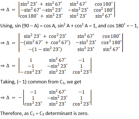 RD Sharma Solutions for Class 12 Maths Chapter 6 Determinants Image 88