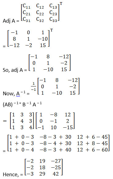 RD Sharma Solutions for Class 12 Maths Chapter 7 Adjoint and Inverse of a Matrix Image 114