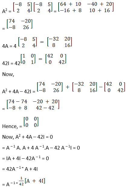 RD Sharma Solutions for Class 12 Maths Chapter 7 Adjoint and Inverse of a Matrix Image 126