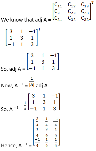 RD Sharma Solutions for Class 12 Maths Chapter 7 Adjoint and Inverse of a Matrix Image 74