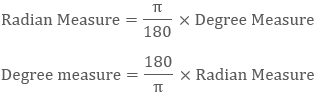 Relation between degree and radian measure