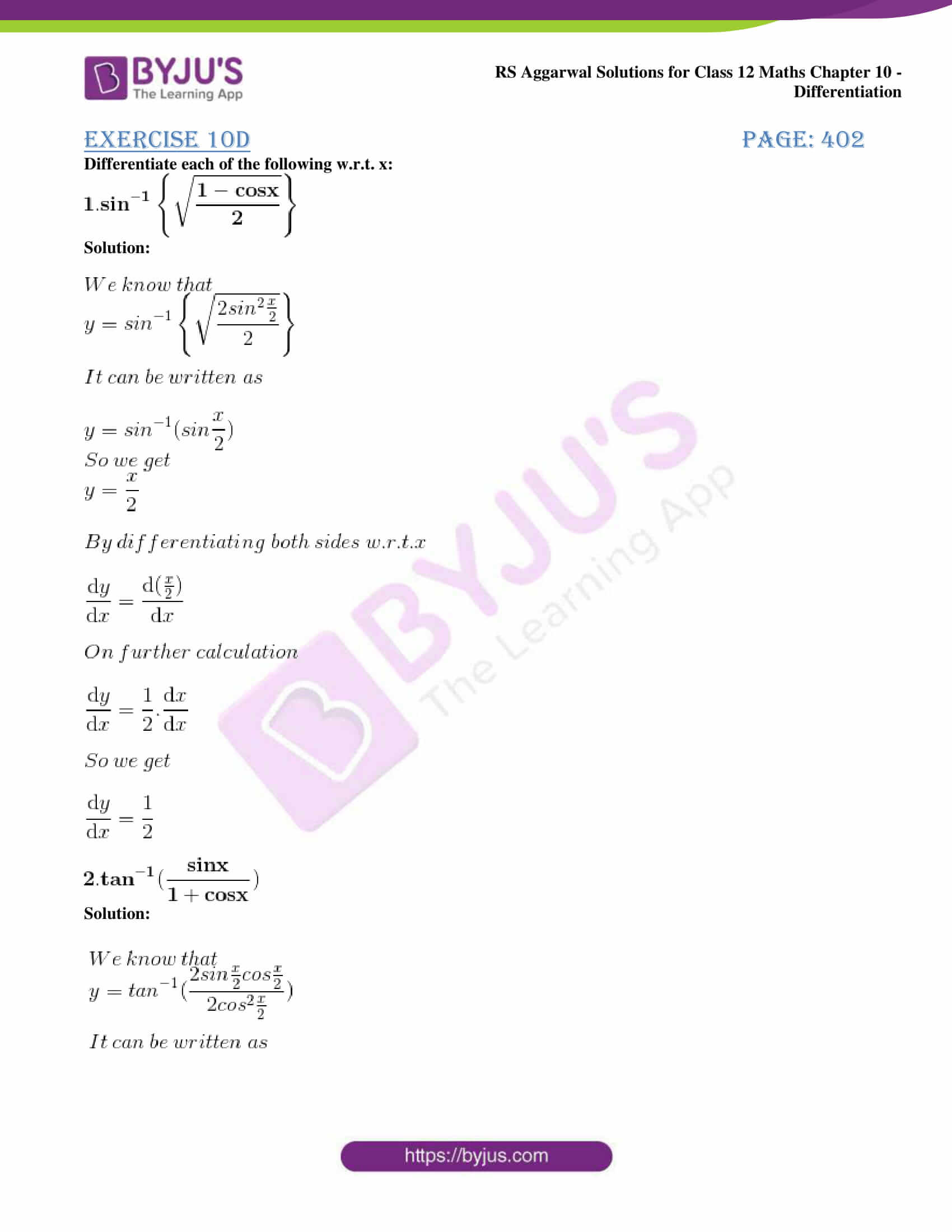 rs aggarwal solution class 12 maths chapter 10 ex d 01