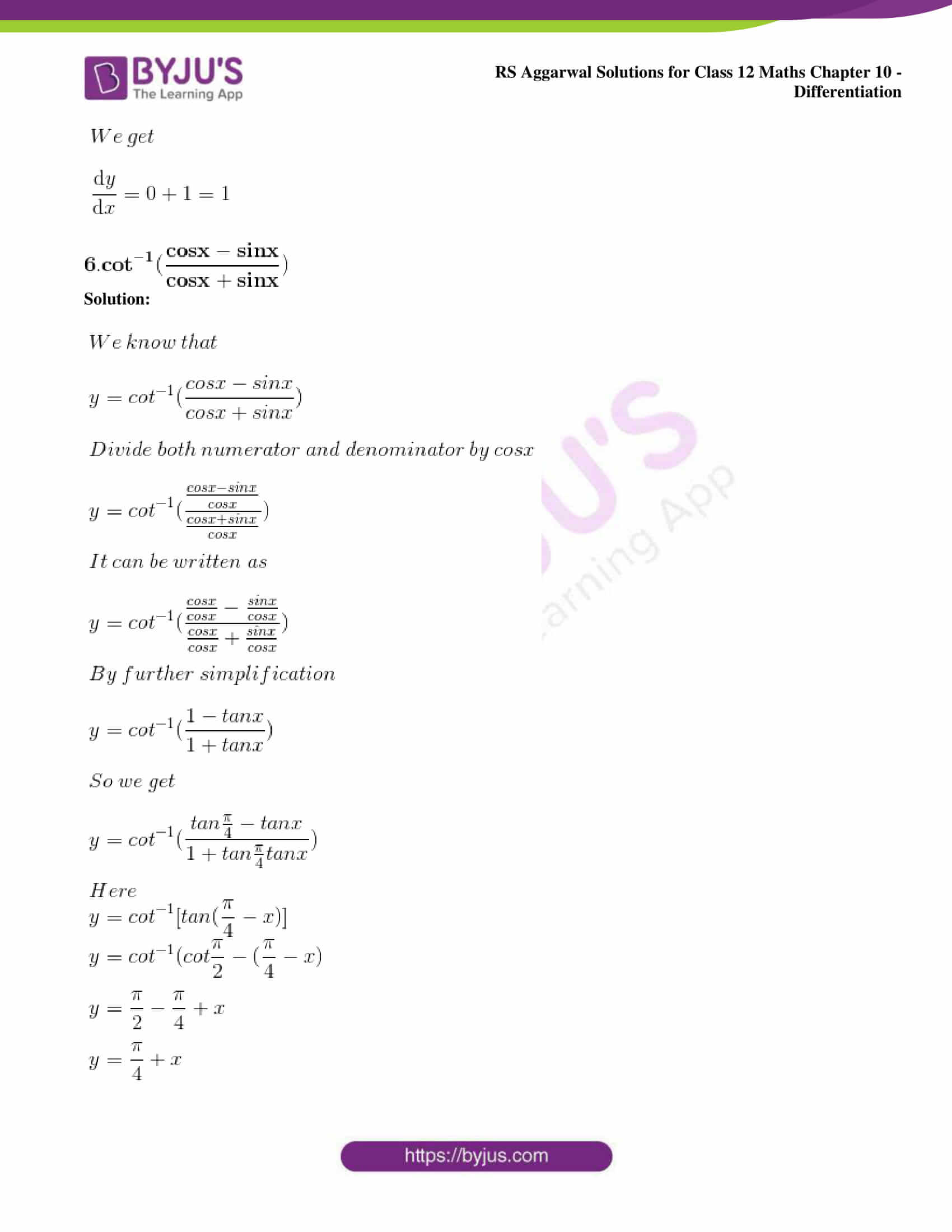 rs aggarwal solution class 12 maths chapter 10 ex d 05