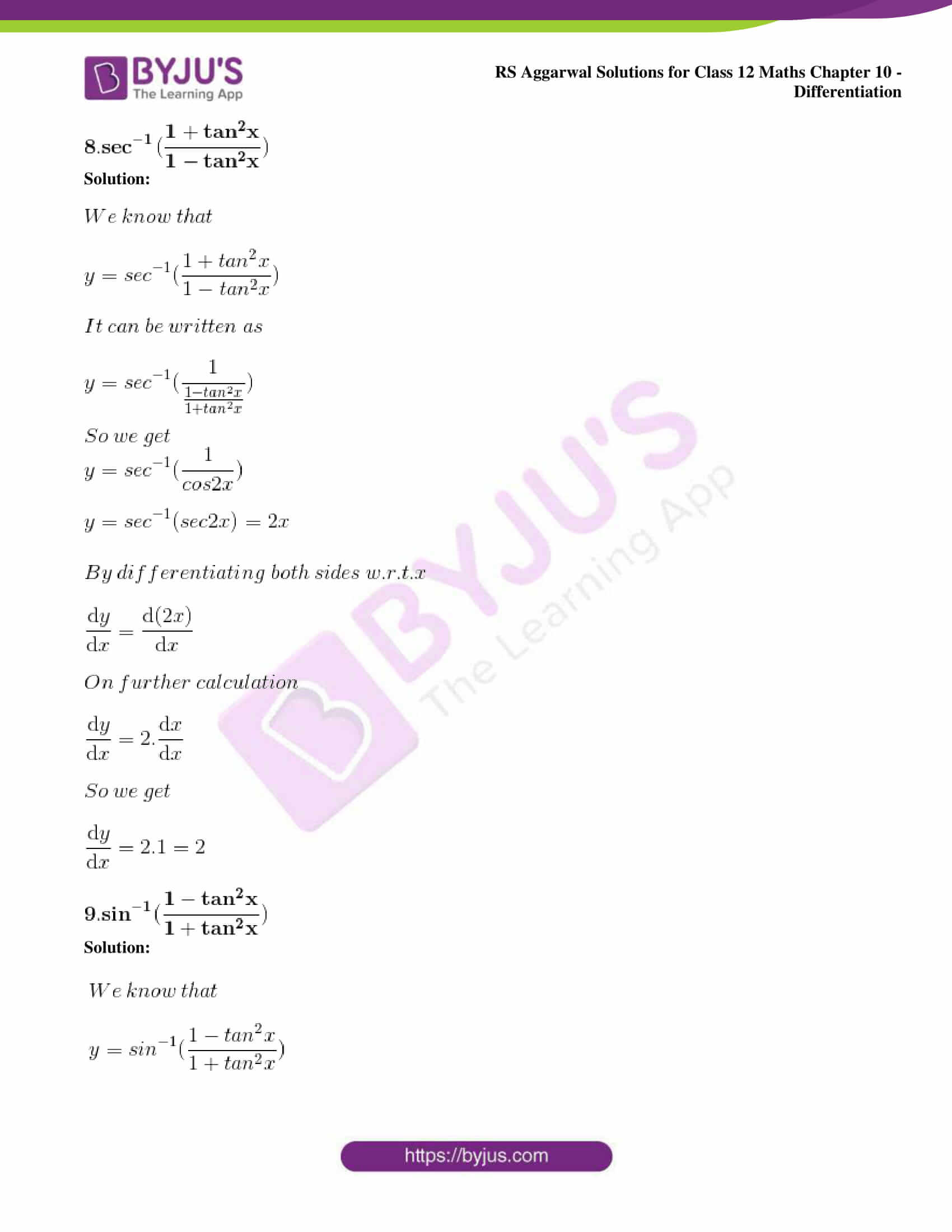 rs aggarwal solution class 12 maths chapter 10 ex d 07