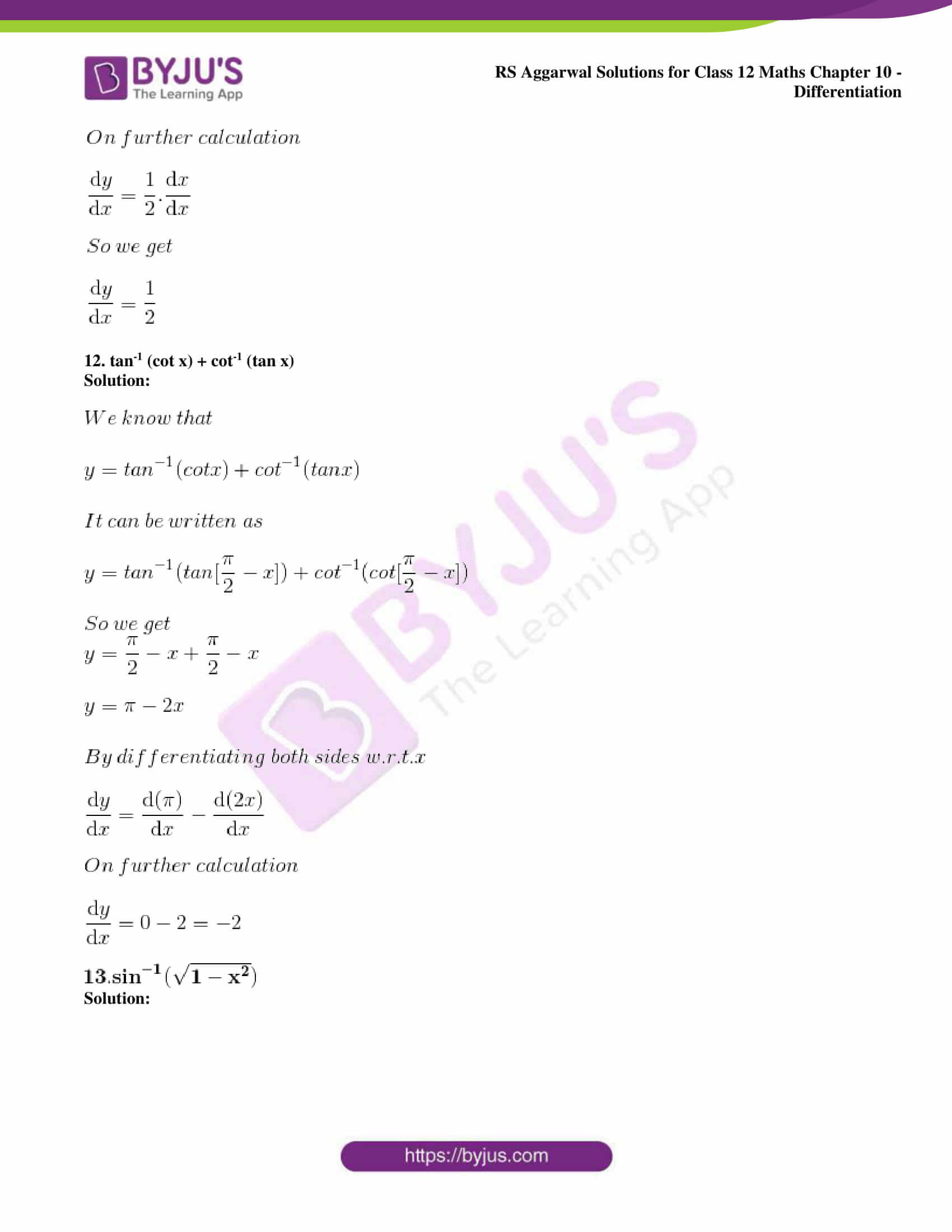 rs aggarwal solution class 12 maths chapter 10 ex d 10