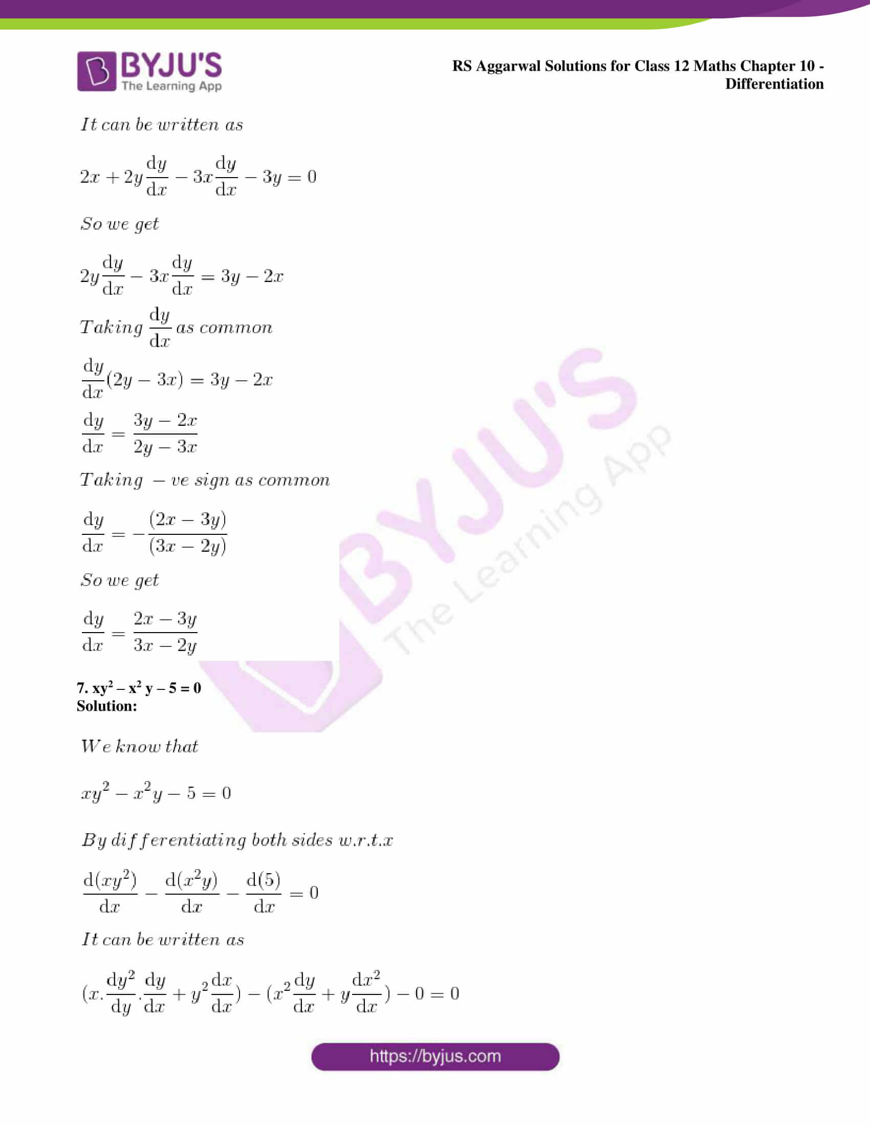 rs aggarwal solution class 12 maths chapter 10 ex e 05