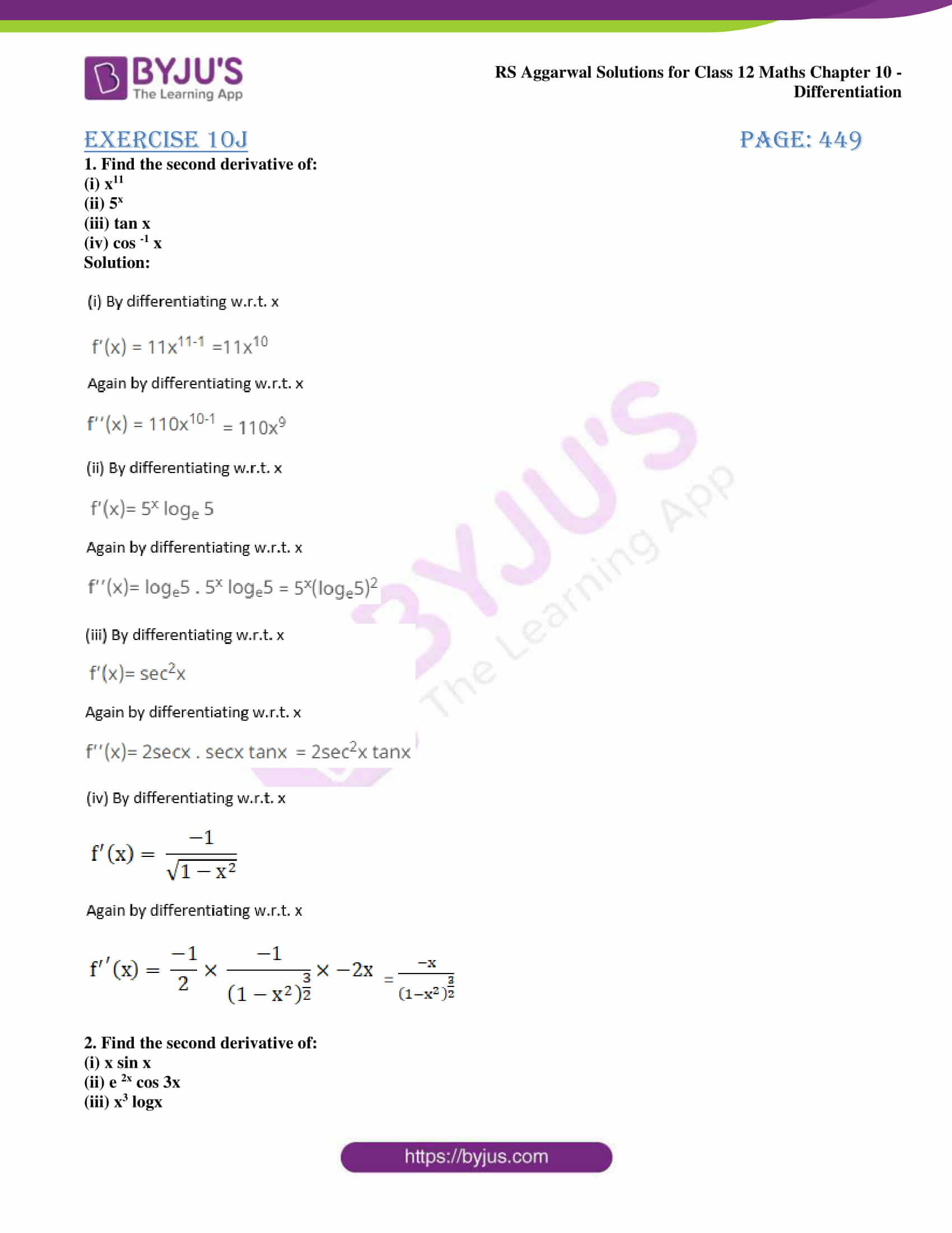 rs aggarwal solution class 12 maths chapter 10 ex j 01