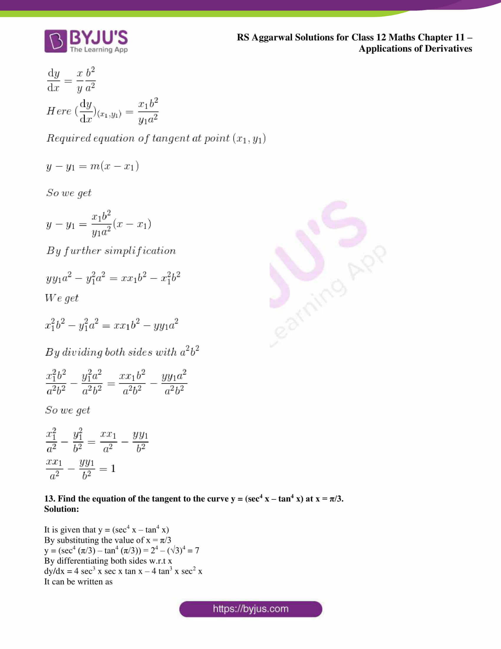 rs aggarwal solution class 12 maths chapter 11 ex h 10