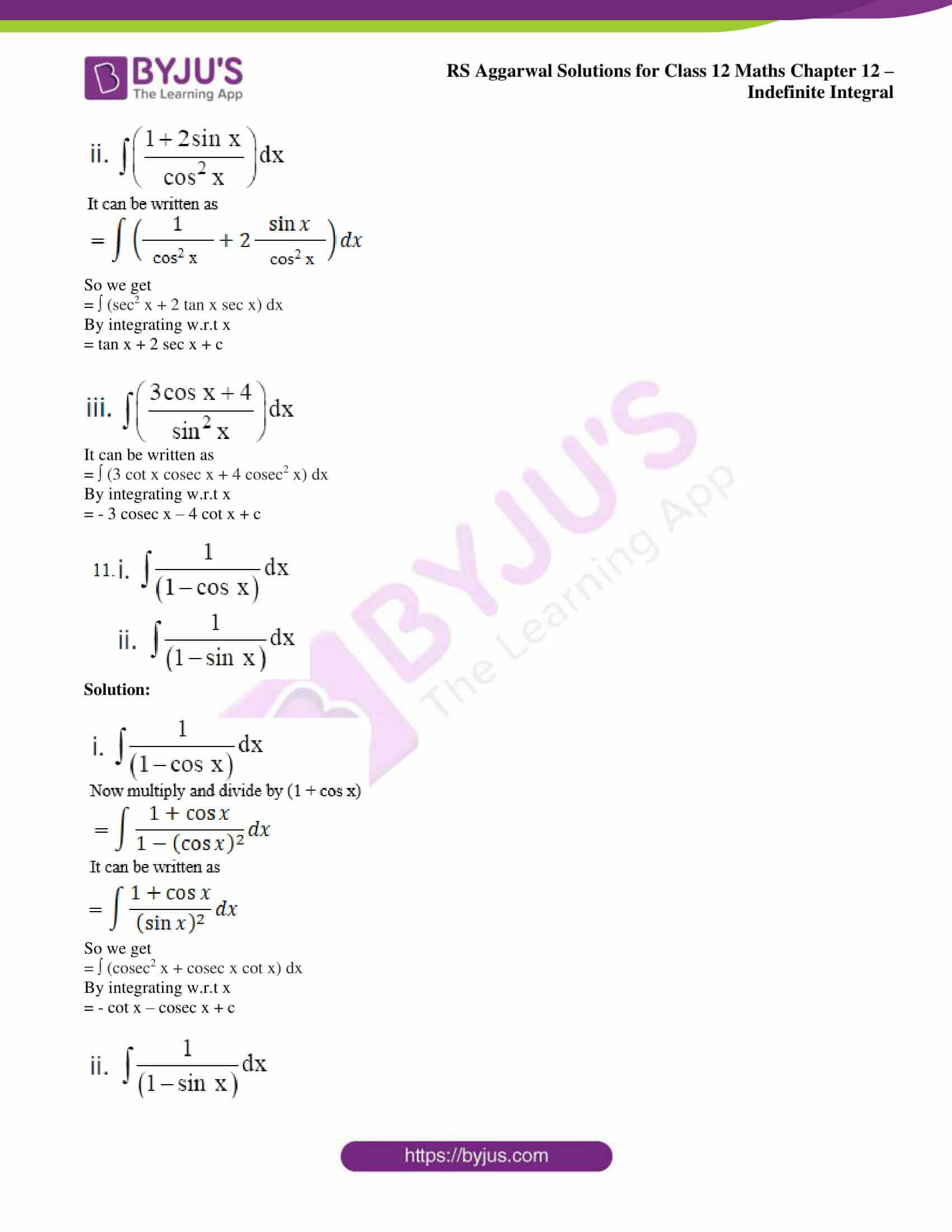 rs aggarwal solution class 12 maths chapter 12 13