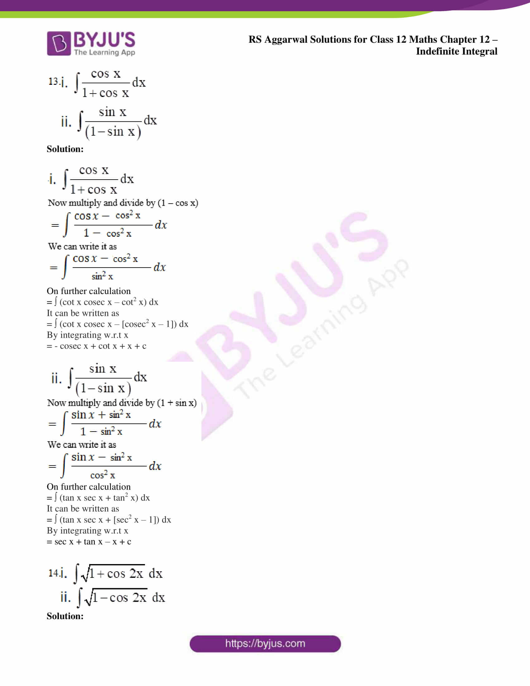 rs aggarwal solution class 12 maths chapter 12 15