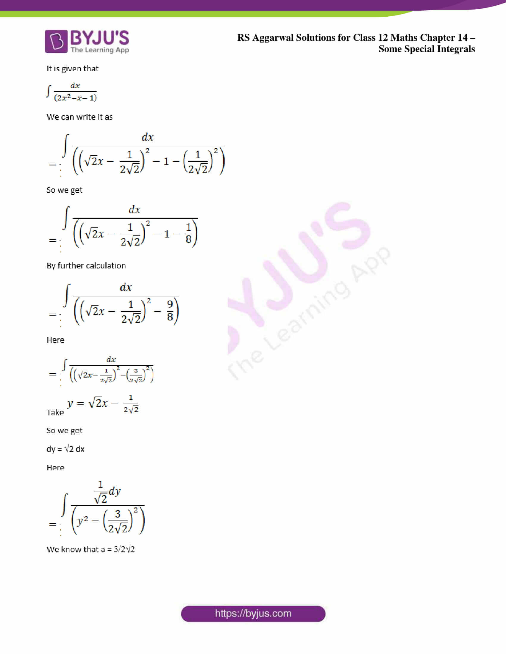 rs aggarwal solution class 12 maths chapter 14 ex a 14