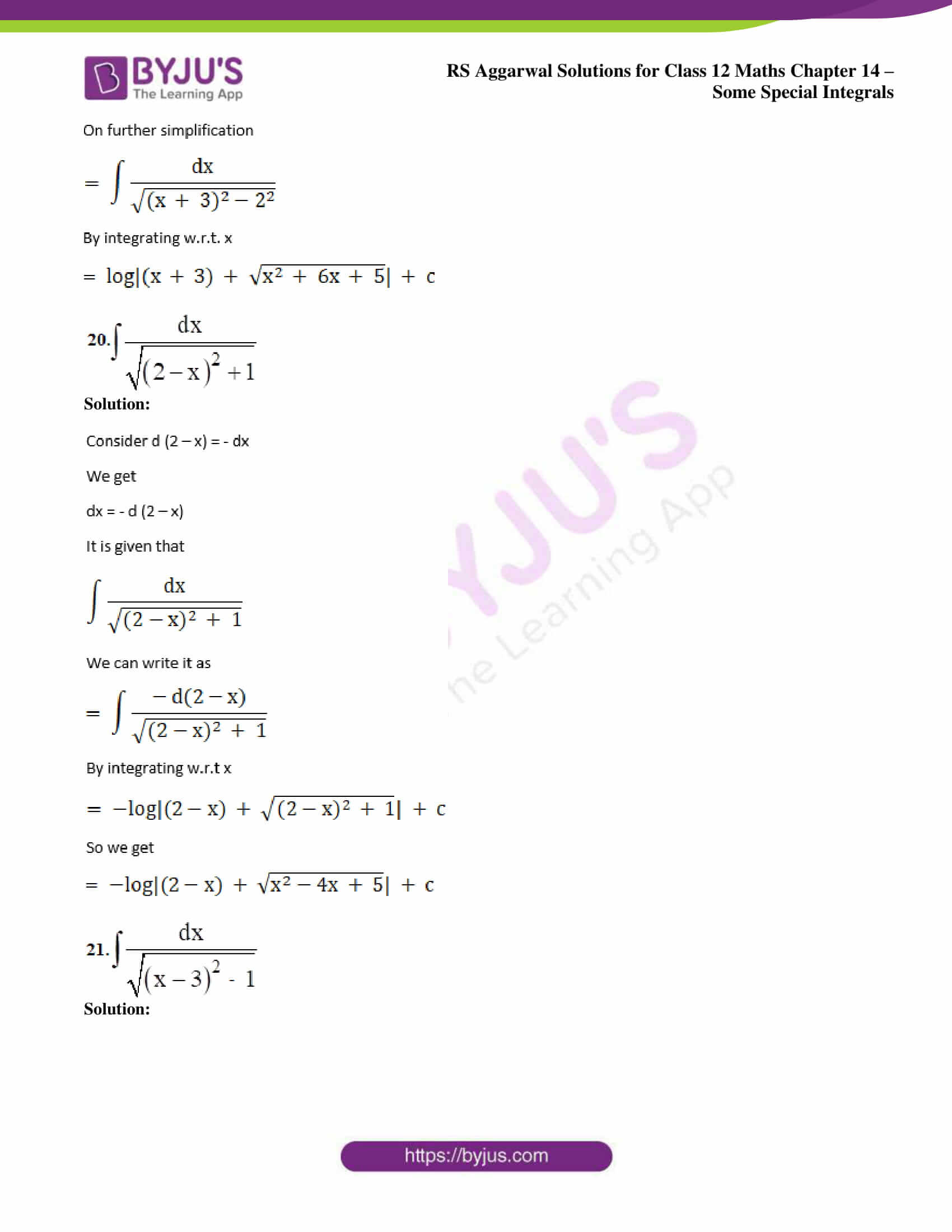 rs aggarwal solution class 12 maths chapter 14 ex b 12