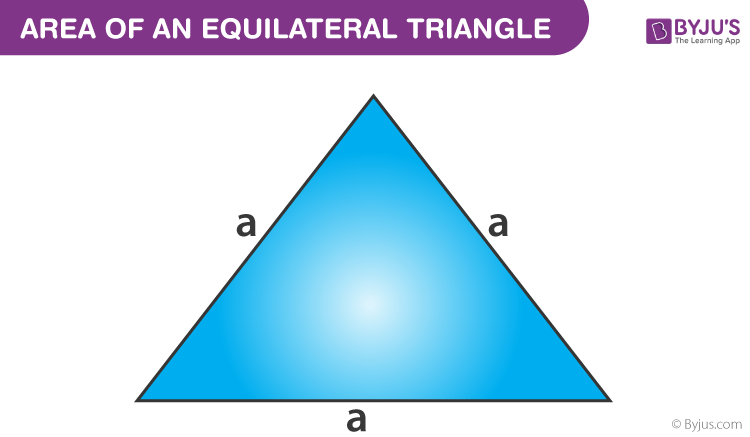 Area of a equilateral triangle