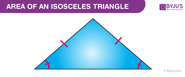 area of an isosceles triangle