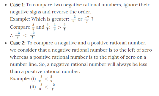 Comparison of Rational Numbers