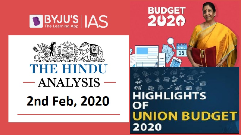 'The Hindu' Analysis for 1st Feb, 2020