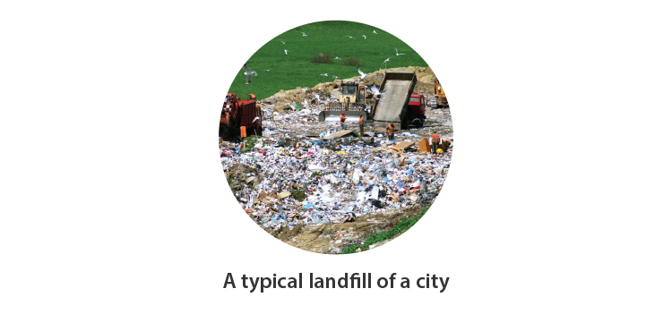 Landfill of a city