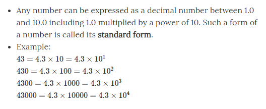 Inter conversion between standard and normal forms